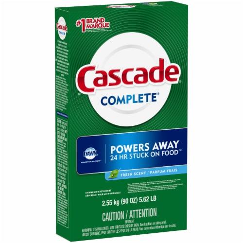 Cascase Complete Fresh Scent Powder Dishwasher Detergent Perspective: front