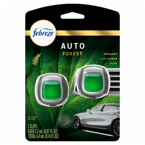 Febreze Auto Forest Vent Clip Air Fresheners Perspective: front