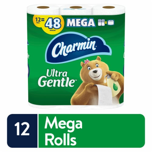 Charmin Ultra Gentle Lotion Bathroom Tissue Perspective: front