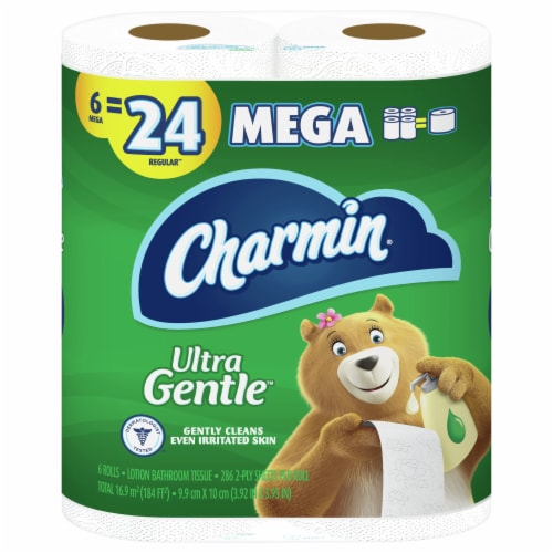 Charmin Toilet Paper Ultra Gentle 286 Sheets Per Roll Perspective: front