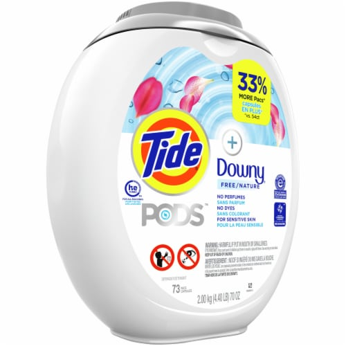 Tide Pods + Downy Free/Nature Laundry Detergent Pacs Perspective: front