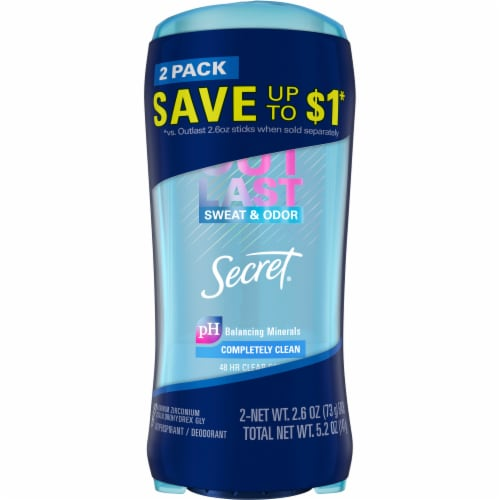 Secret Outlast Completely Clean Clear Gel Antiperspirant Deodorant Perspective: front