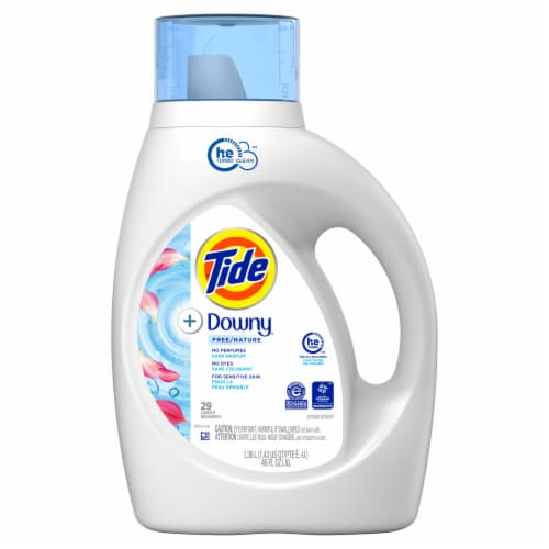 Tide Liquid 2X with Fabric Softener Unscented Laundry Detergent Perspective: front