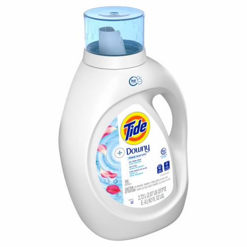 Tide + Downy Free with Fabric Softener Liquid Laundry Detergent Perspective: front
