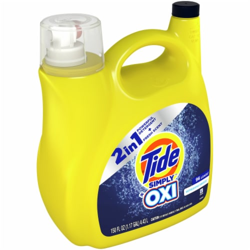 Tide Simply + Oxi Refreshing Breeze Liquid Laundry Detergent Perspective: front