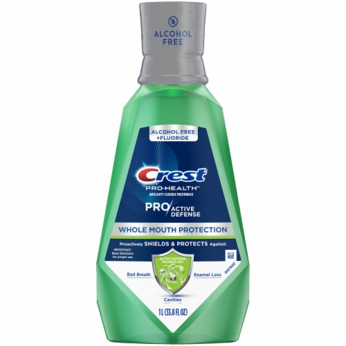 Crest Pro-Health Mouthwash Pro|Active Defense Whole Mouth Protection Rinse Perspective: front