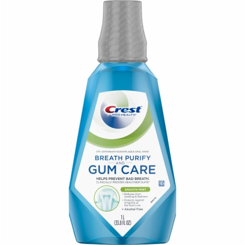 Crest Pro-Health Gum and Breath Purify Smooth Mint Oral Rinse Perspective: front