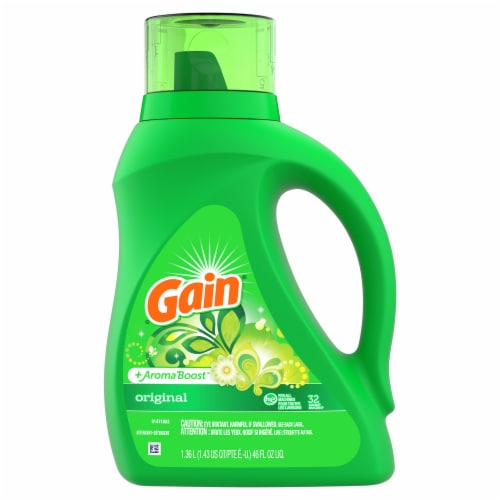 Gain + Aroma Boost Original Liquid Laundry Detergent Perspective: front