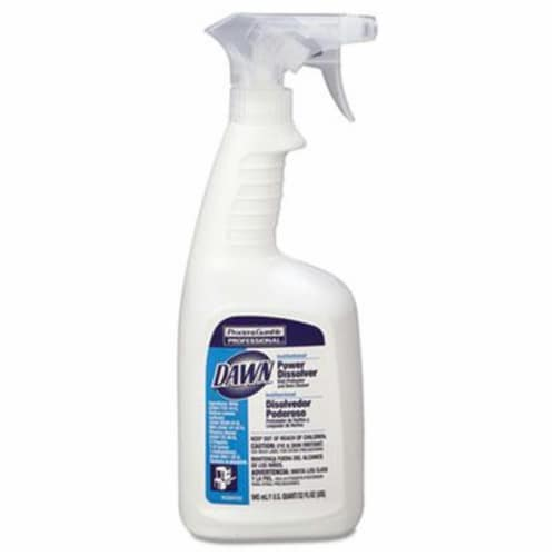 Dawn Professional Dish Power Dissolver, 32 Oz Spray Bottle, 6/Carton 56037 Perspective: front