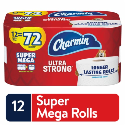 Charmin Ultra Strong Toilet Paper Perspective: front