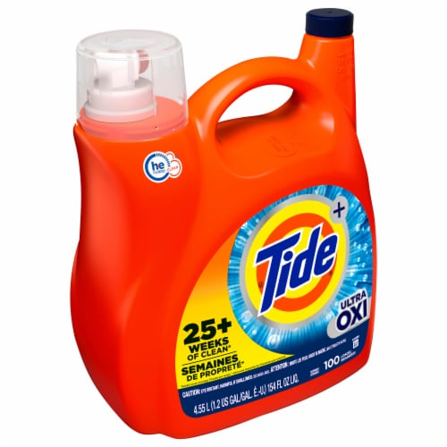 Tide Plus Ultra Oxi Liquid Laundry Detergent Perspective: front