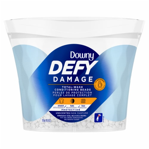 Downy DEFY Damage Unscented Total Wash Conditioning Beads Perspective: front