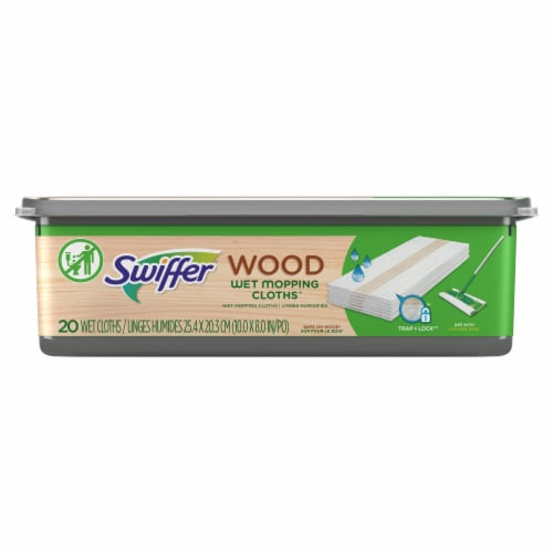 Swiffer Wood Wet Heavy Duty Refill Cloths/Pads Perspective: front
