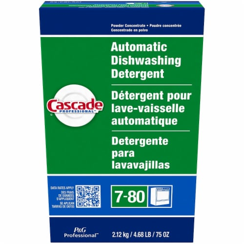 Cascade Automatic Dishwasher Powder, Fresh Scent, 75 Oz Box 59535 Perspective: front