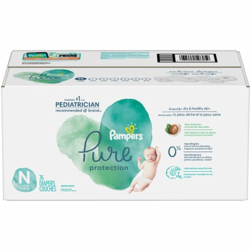 Pampers Pure Protection Size N Newborn Diapers Perspective: front