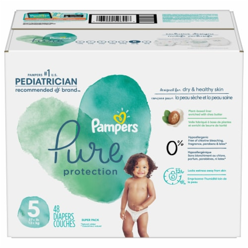 Pampers Pure Protection Size 5 Baby Diapers Perspective: front