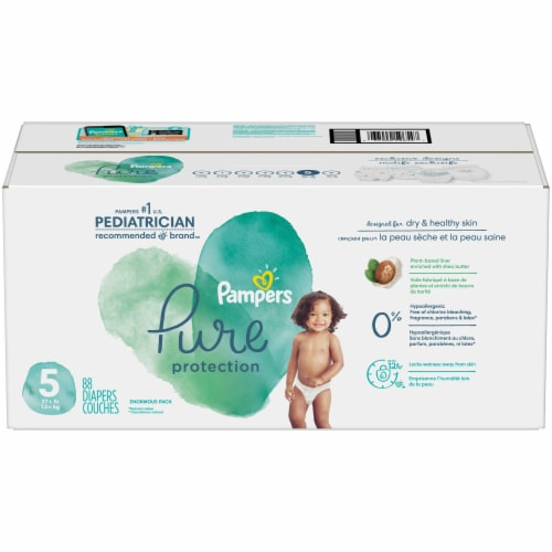 Pampers Pure Protection Size 5 Diapers Perspective: front