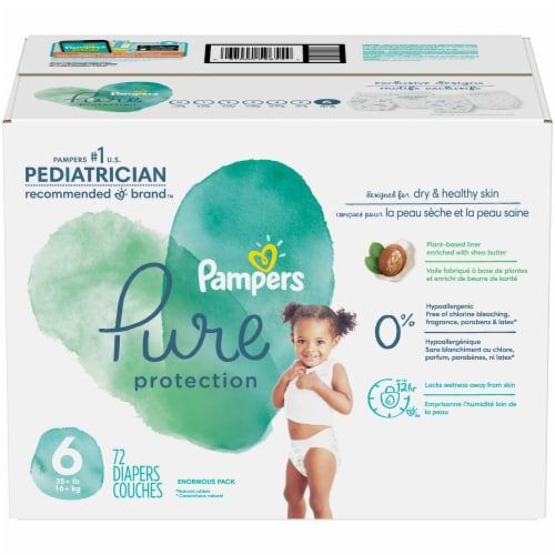 Pampers Pure Protection Size 6 Diapers Perspective: front