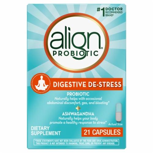 Align Probiotic Digestive De-Stress Capsules Perspective: front
