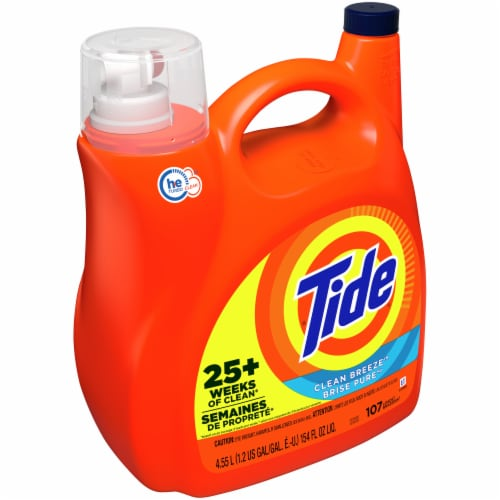 Tide Clean Breeze Liquid Laundry Detergent Perspective: front