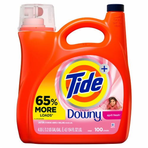 Tide Plus A Touch of Downy April Fresh Liquid Laundry Detergent Perspective: front