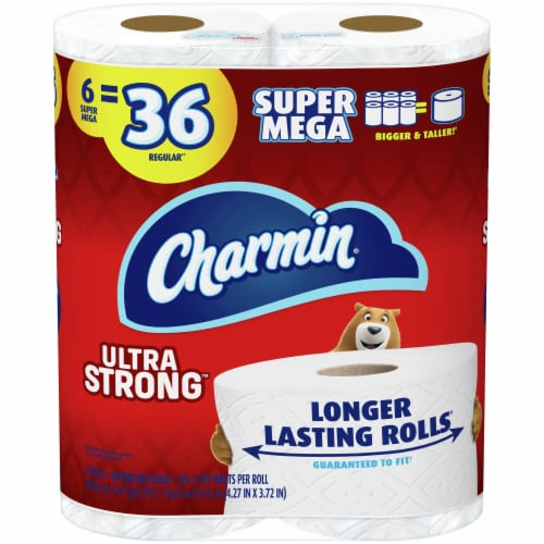 Charmin Ultra Strong Super Mega Roll Toilet Paper Perspective: front