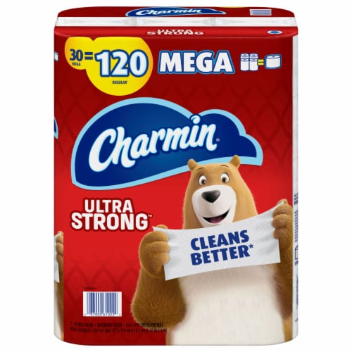 Charmin Ultra Strong Bathroom Tissue Perspective: front