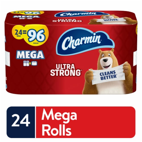 Charmin Ultra Strong Mega Roll Toilet Paper Perspective: front