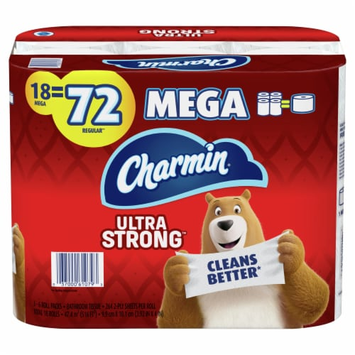 Charmin Toilet Paper Ultra Strong 264 Sheets Per Roll Perspective: front