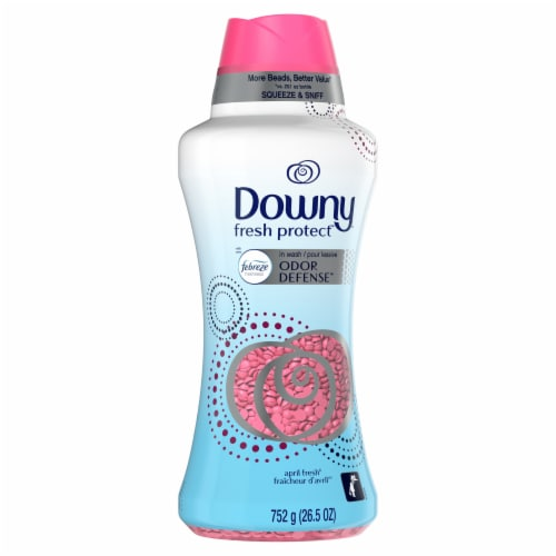 Downy® Fresh Protect Febreeze Odor Defense April Fresh In-Wash Scent Booster Perspective: front