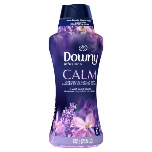 Downy® Infusions Lavender & Vanilla Bean Calm In-Wash Scent Booster Perspective: front