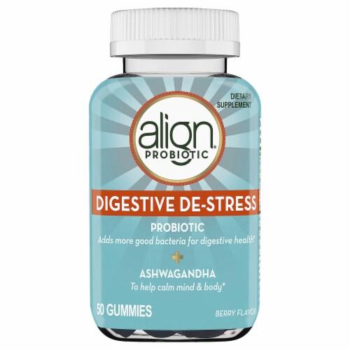 Align Berry Flavor Digestive De-Stress Probiotic Gummies Perspective: front