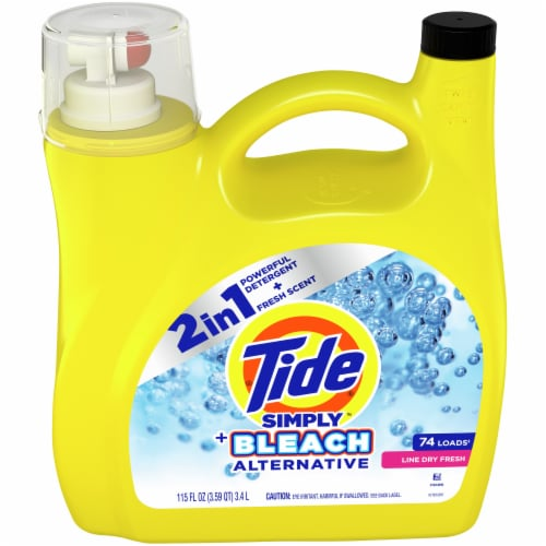 Tide Simply + Bleach Alternative Line Dry Scent Liquid Laundry Detergent Perspective: front