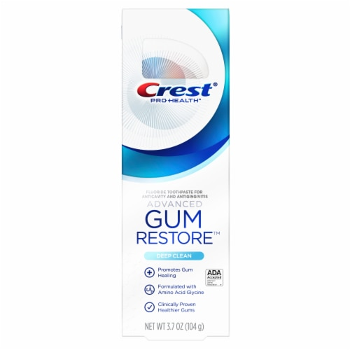 Crest Pro Health Advanced Gum Restore Deep Clean Fluoride Toothpaste Perspective: front
