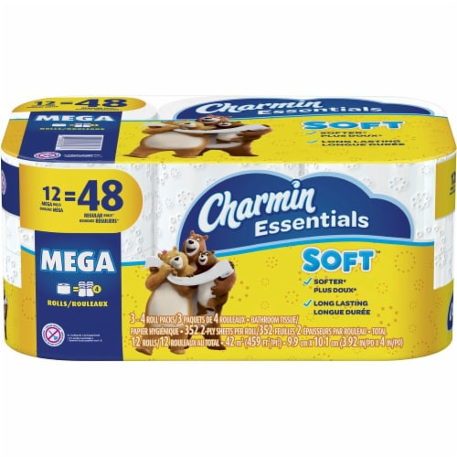 Charmin Tissue,Chrm,Ess Soft,12mr 65703 Perspective: front