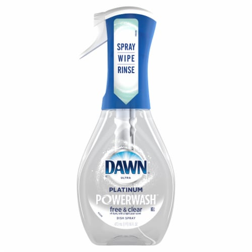 Dawn Free & Clear Powerwash Dish Spray Pear Scent Dish Soap Perspective: front