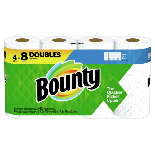Bounty Select-a-Size White Double Roll Paper Towels Perspective: front