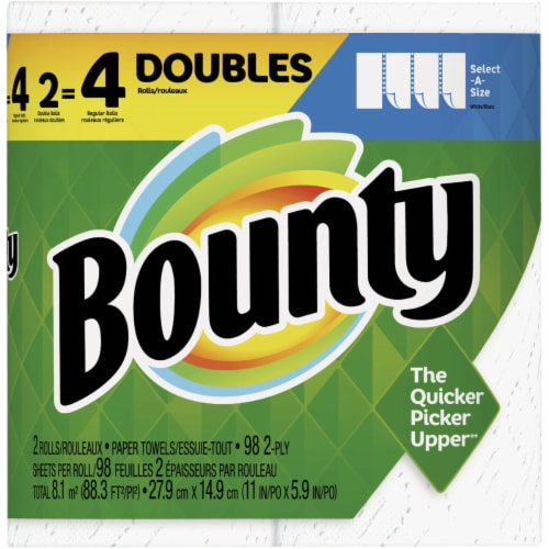 Bounty Select-A-Size Paper Towel (2 Double Rolls) 3700066659 Pack of 6 Perspective: front