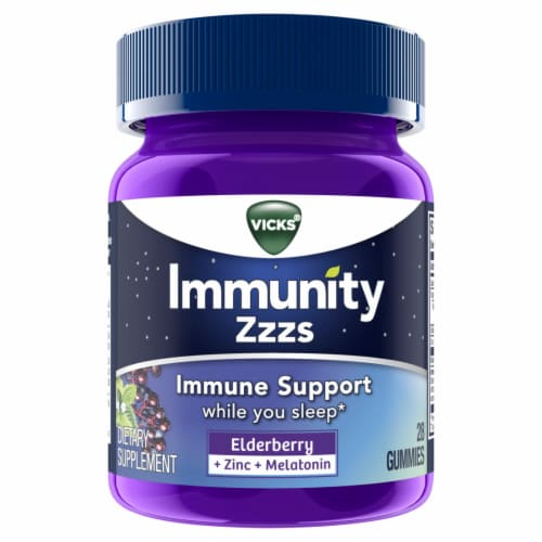 Vicks Immunity Zzzs Immune Support Gummies Perspective: front