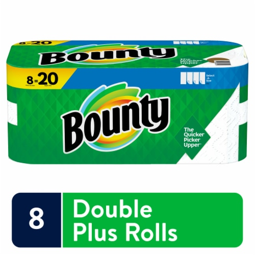Bounty Select-a-Size White Double Plus Paper Towels Perspective: front