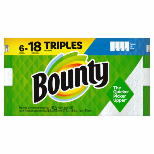 Bounty Select-a-Size 2-Ply Triple Paper Towel Rolls Perspective: front