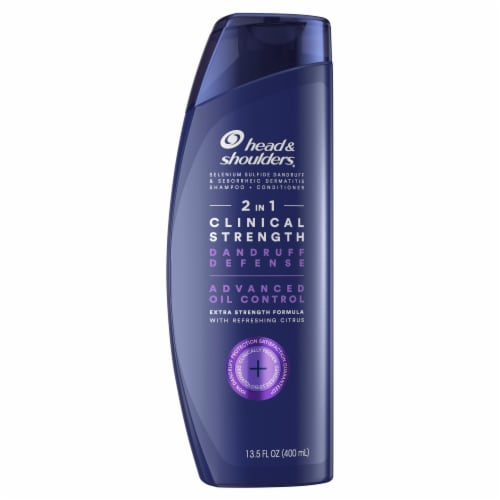 Head & Shoulders Clinical Strength Oil Control 2-In-1 Anti-Dandruff Shampoo + Conditioner Perspective: front