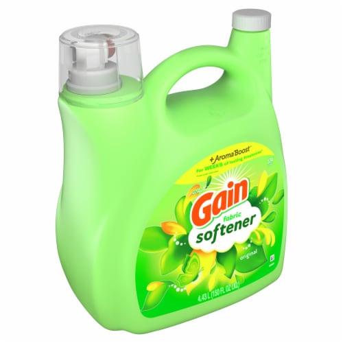 Gain + Aroma Boost Original Scent Liquid Fabric Softener Perspective: front