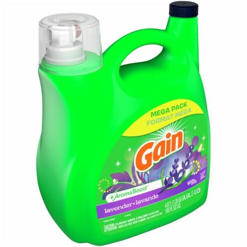 Gain Lavender + AromaBoost Liquid Laundry Detergent Mega Pack Perspective: front