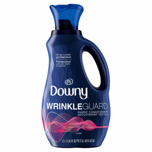 Downy Wrinkle Guard Floral Fabric Conditioner Perspective: front