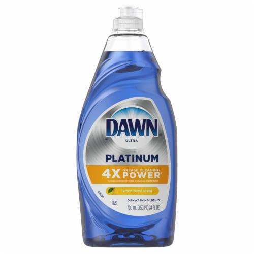 Dawn Ultra Platinum Lemon Burst Dishwashing Liquid Perspective: front