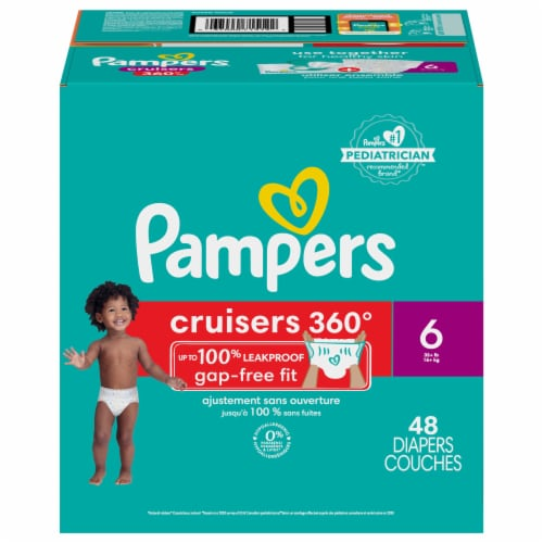 Pampers Cruisers 360 Fit Size 6 Baby Diapers Super Pack Perspective: front