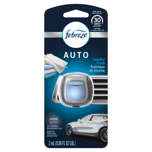 Febreze Auto Laundry Fresh Air Freshener Car Vent Clip Perspective: front