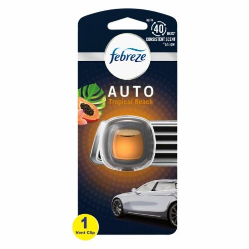 Febreze Auto Tropical Beach Air Freshener Car Vent Clip Perspective: front