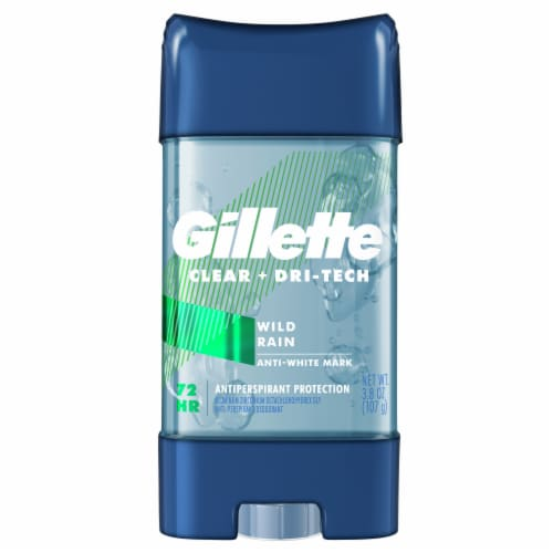 Gillette Clear Gel Wild Rain Anti-Perspirant Deodorant for Men Perspective: front